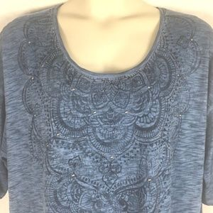 508dc56a53f Catherines Tops - Catherines Womens 2XP Blue Space Dye Top